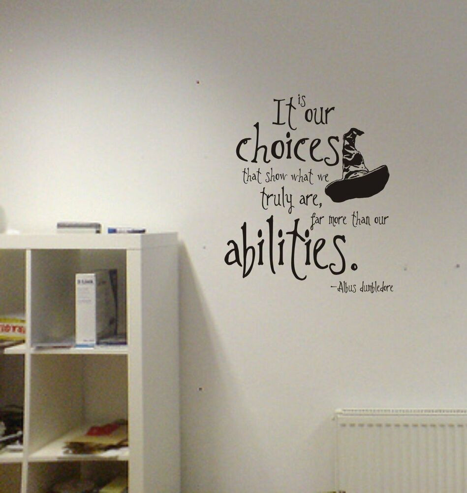 Best ideas about Harry Potter Wall Art . Save or Pin Harry Potter Our Choices Quote Vinyl Wall Decal Lettering Now.