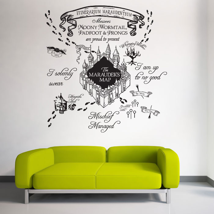 Best ideas about Harry Potter Wall Art . Save or Pin The marauder s Map Harry Potter v1 Vinyl Wall Art Decal Now.