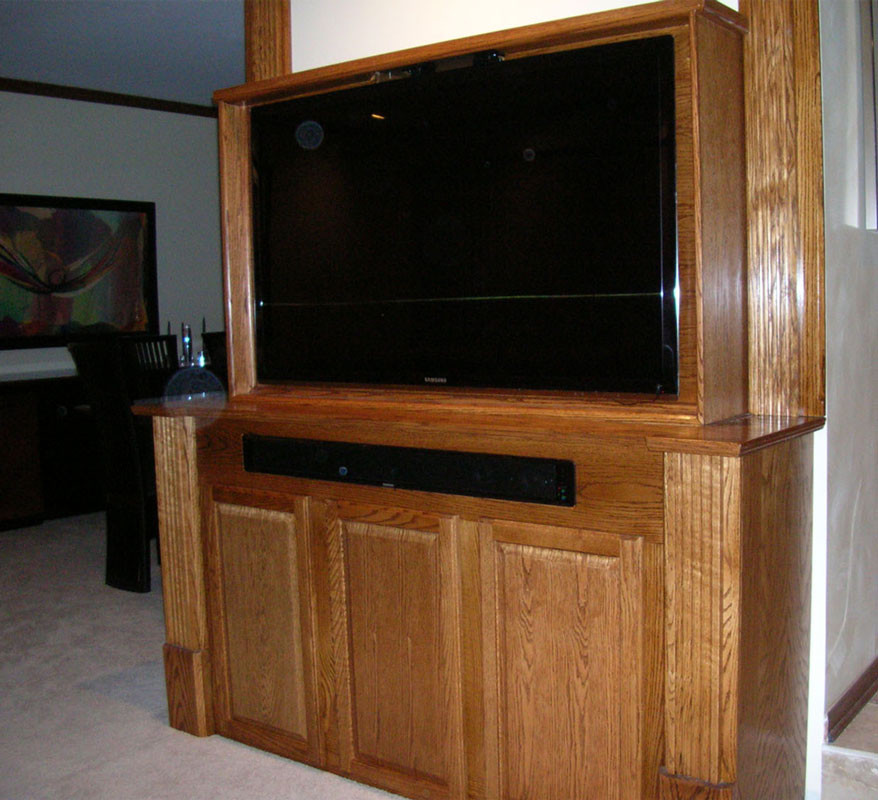 Best ideas about Hidden Tv Cabinet . Save or Pin Built In TV Cabinet Now.