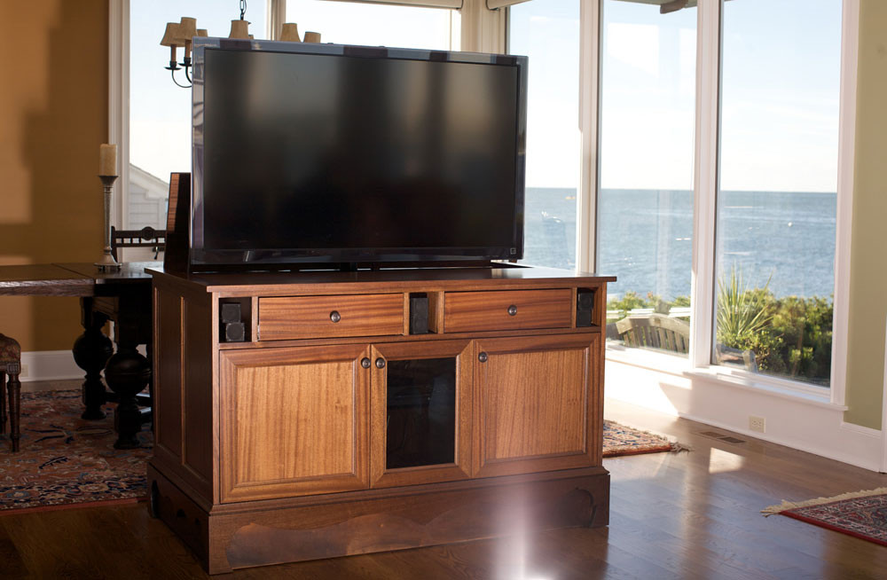 Best ideas about Hidden Tv Cabinet . Save or Pin Smart TV Cabinets Keeping TV ponents Cool Now.