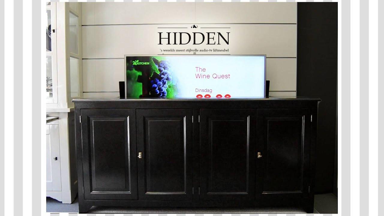 Best ideas about Hidden Tv Cabinet . Save or Pin HIDDEN TV lift meubel dressoir cabinet Now.