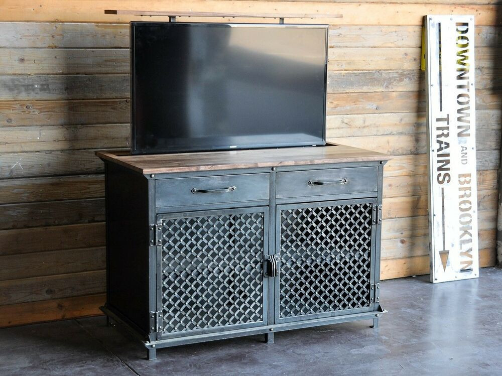 Best ideas about Hidden Tv Cabinet . Save or Pin TV Lift Cabinet Vintage Industrial Ellis Motorized Now.