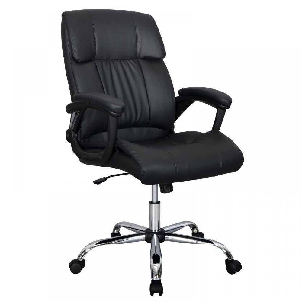 Best ideas about High Office Chair . Save or Pin Black PU Leather High Back fice Chair Executive Best Now.