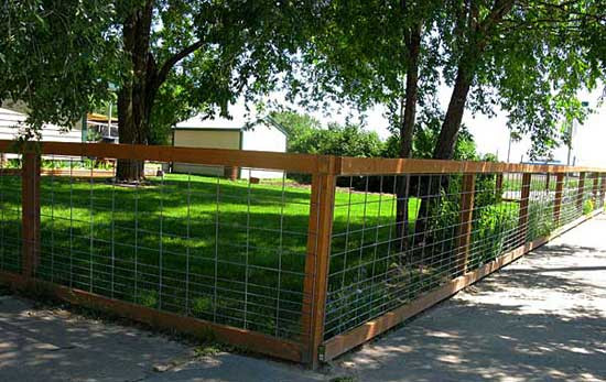 Best ideas about Hog Wire Fence DIY . Save or Pin A Simple Maintenance Free Inexpensive Fencing Solution Now.
