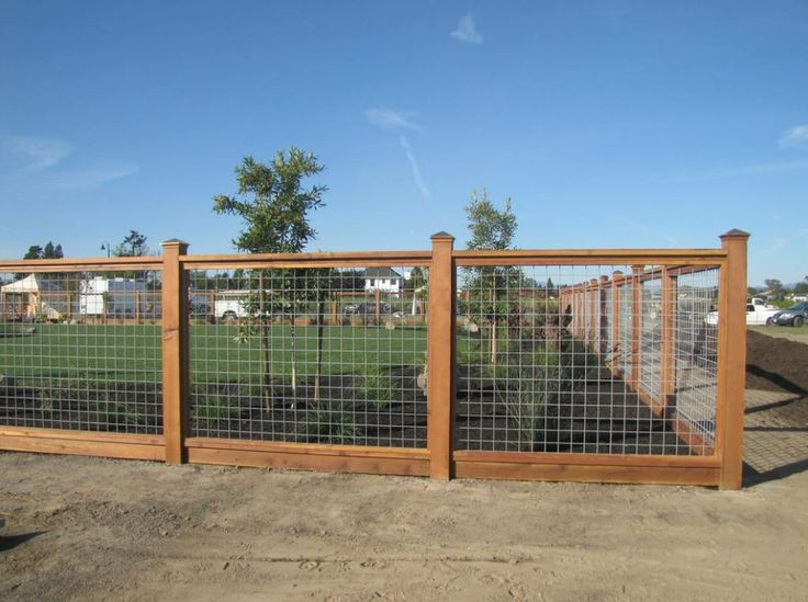 Best ideas about Hog Wire Fence DIY . Save or Pin hog wire fence would want 1 2 height Now.