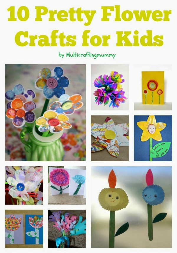 Best ideas about Home Crafts For Toddlers . Save or Pin Top 10 Flower Crafts for Mothers Day Crafty Kids at Home Now.