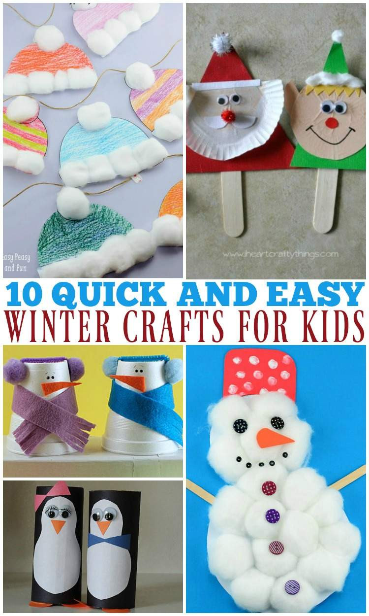 Best ideas about Home Crafts For Toddlers . Save or Pin 10 Quick and Easy Winter Crafts for Kids The Relaxed Now.