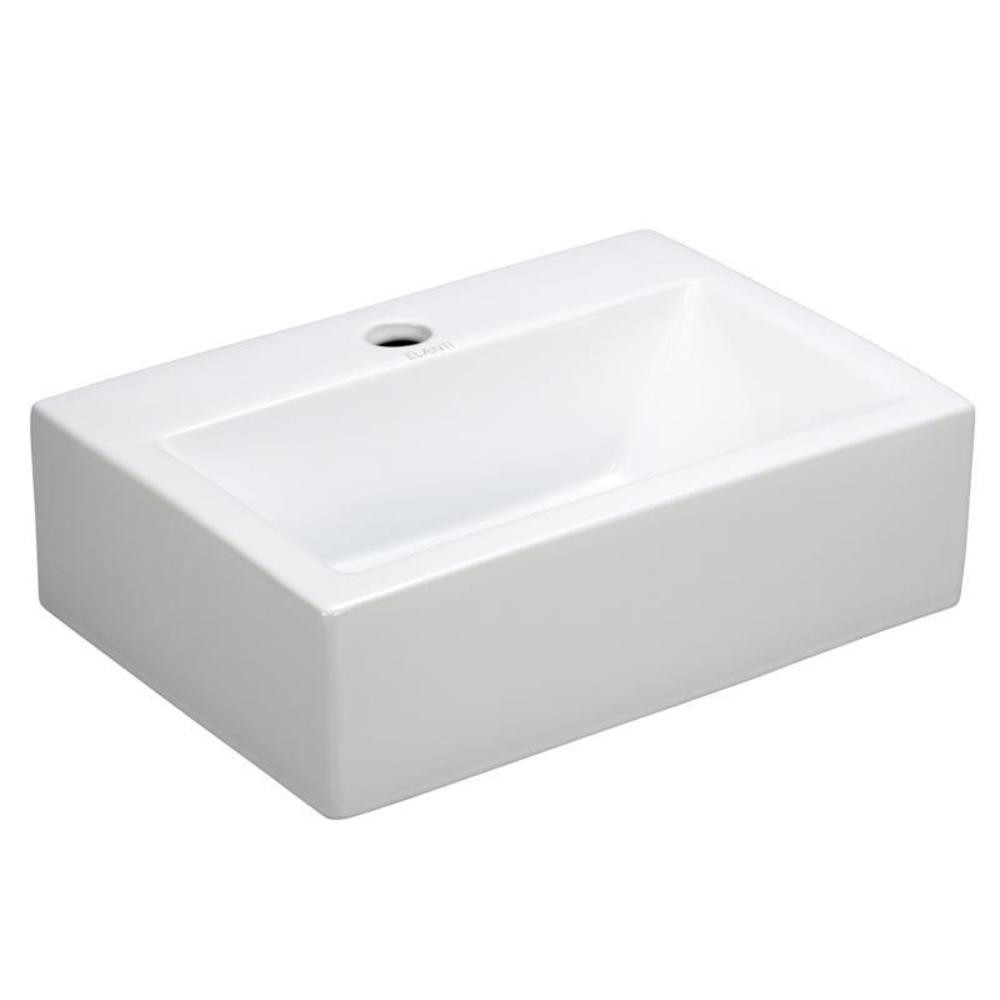 Best ideas about Home Depot Bathroom Sink . Save or Pin Elanti Wall Mounted Rectangle Bathroom Sink in White Now.