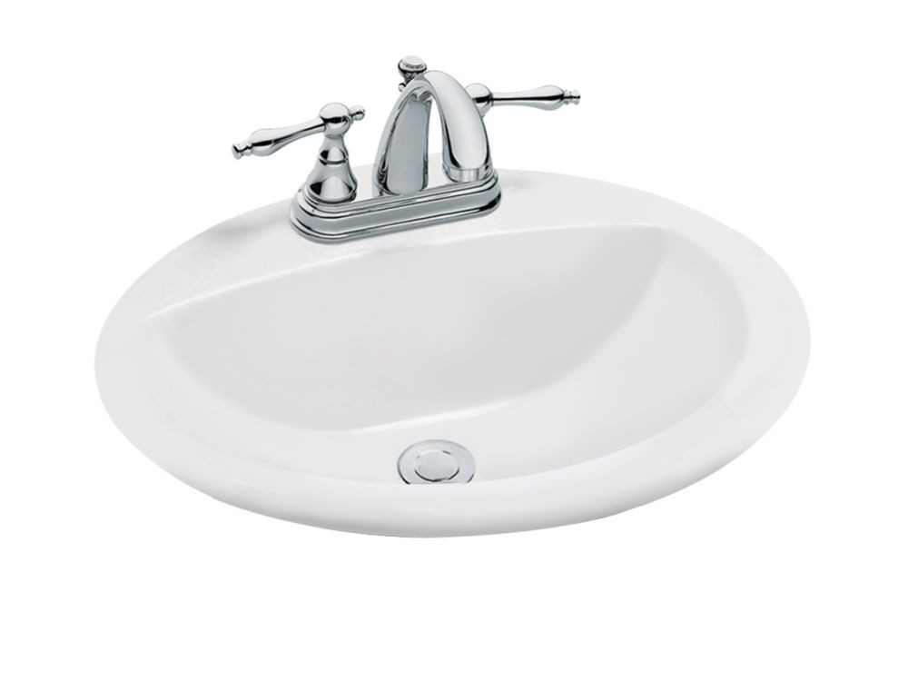 Best ideas about Home Depot Bathroom Sink . Save or Pin GLACIER BAY Oval Drop In Bathroom Sink in White Now.
