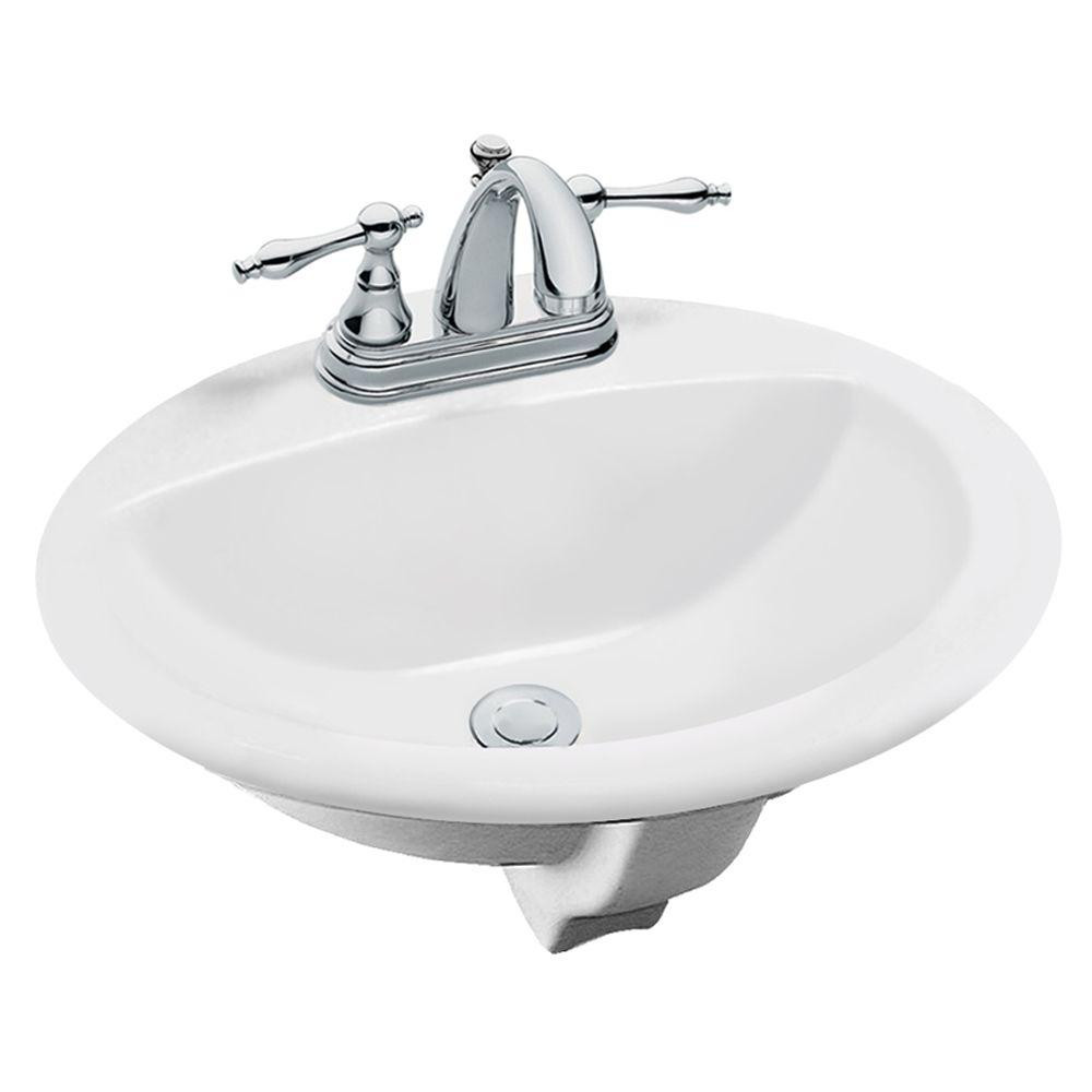 Best ideas about Home Depot Bathroom Sink . Save or Pin Glacier Bay Aragon Self Rimming Drop In Bathroom Sink in Now.