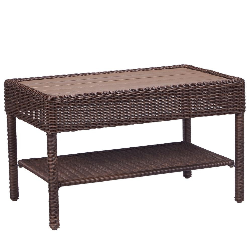 Best ideas about Home Depot Coffee Table . Save or Pin Hampton Bay Belcourt Metal Rectangle Outdoor Coffee Table Now.