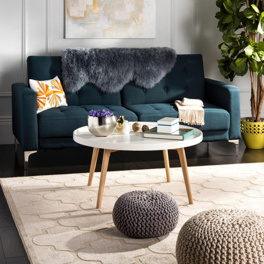 Best ideas about Home Depot Coffee Table . Save or Pin Safavieh Rue Round White Coffee Table FOXA The Home Depot Now.