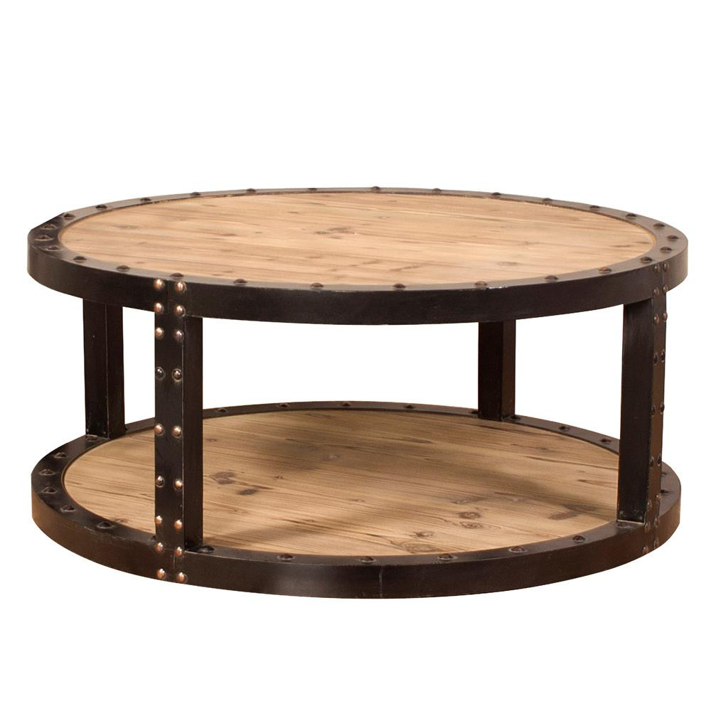 Best ideas about Home Depot Coffee Table . Save or Pin Furniture Vintage Round Wooden Coffee Table Plus Wrought Now.