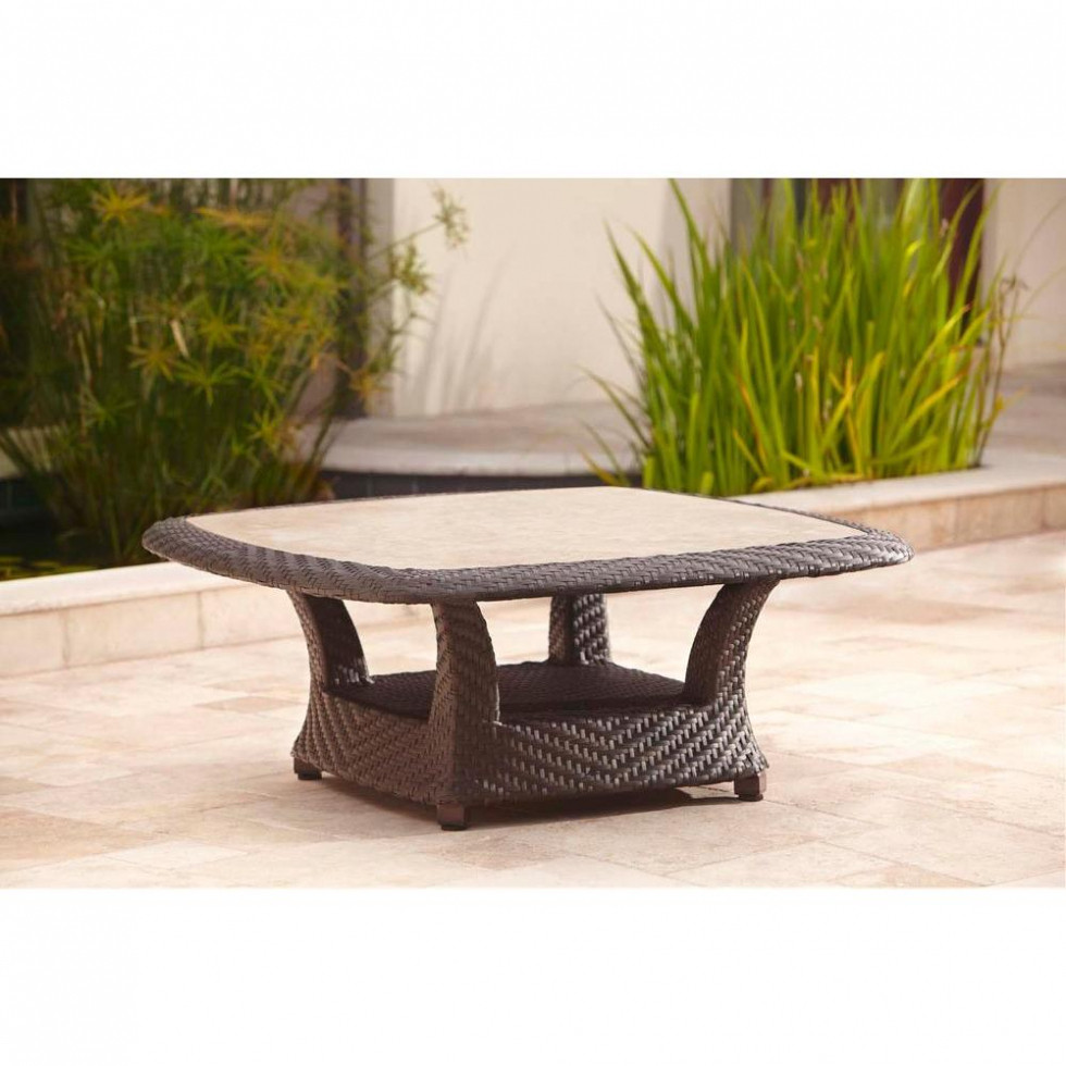 Best ideas about Home Depot Coffee Table . Save or Pin ZUO South Port Wood Outdoor Coffee Table The Home Depot Now.