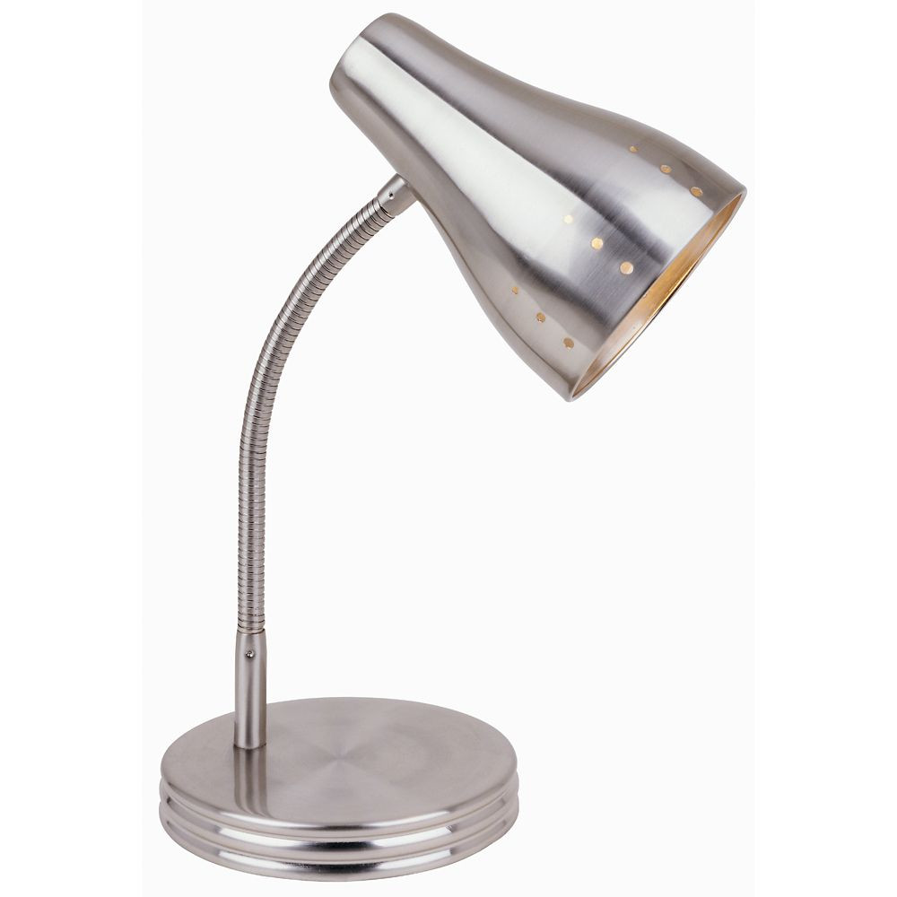 Best ideas about Home Depot Desk Lamp . Save or Pin Hampton Bay 1 Light Touch Desk Lamp in Satin Chrome Now.