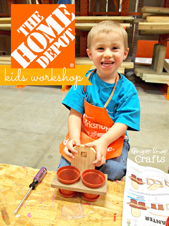 Best ideas about Home Depot DIY Kids . Save or Pin Ginger Snap Crafts The Home Depot Kids Workshop Build Now.
