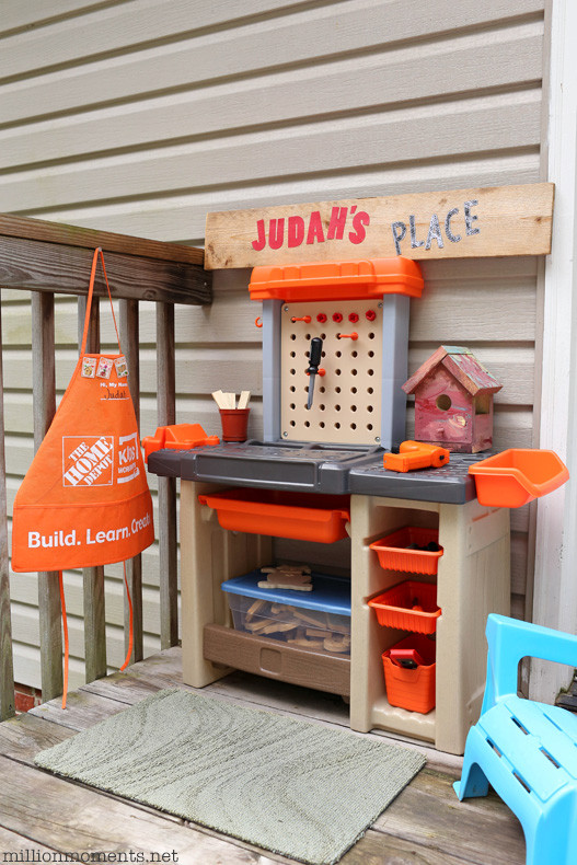 Best ideas about Home Depot DIY Kids . Save or Pin Space Saving DIY Kids Workshop Now.
