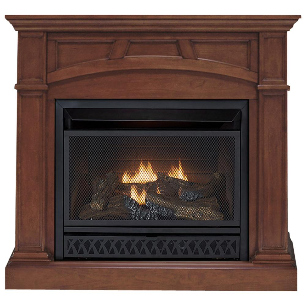 Best ideas about Home Depot Gas Fireplace . Save or Pin Emberglow 43 in Convertible Vent Free Dual Fuel Gas Now.
