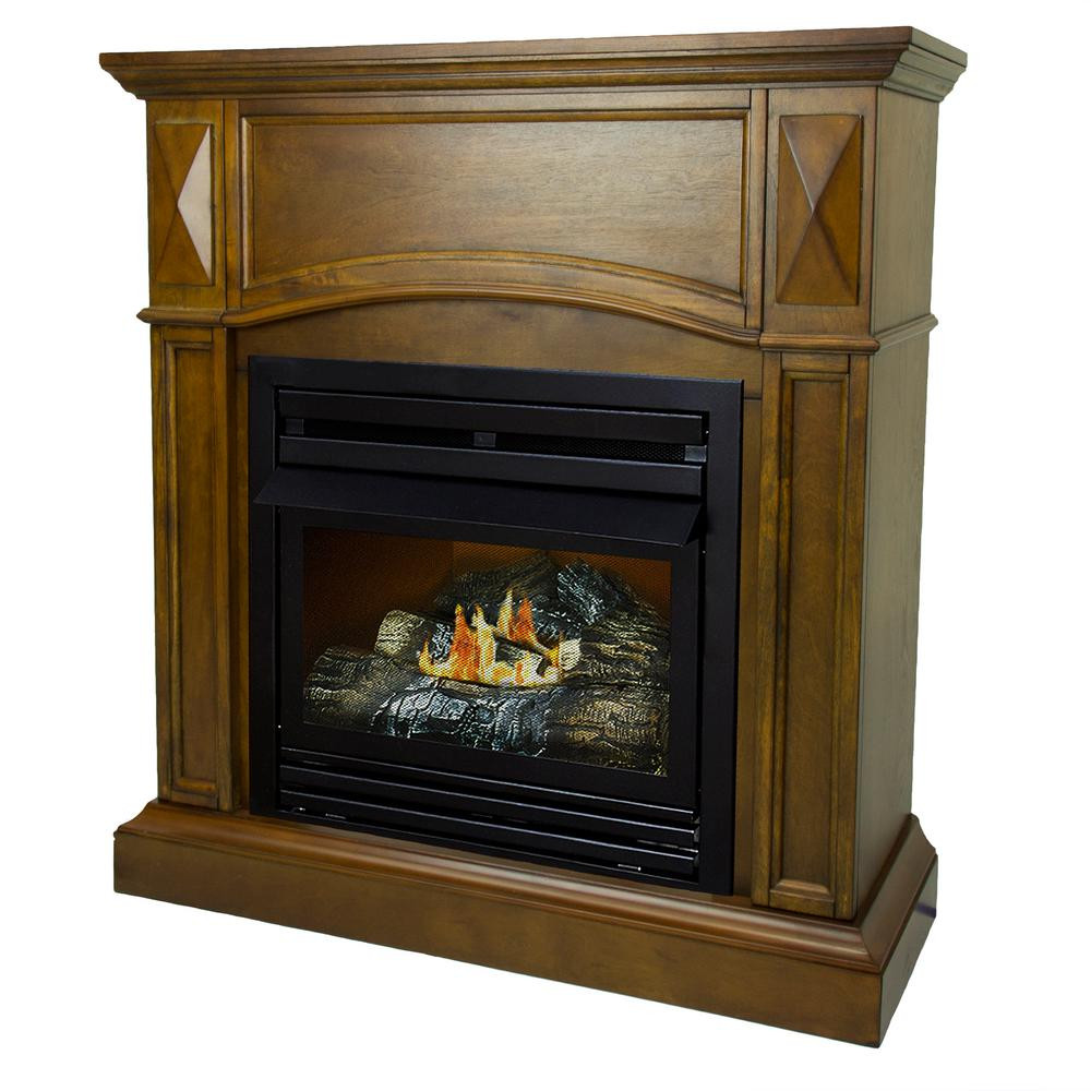 Best ideas about Home Depot Gas Fireplace . Save or Pin Pleasant Hearth 20 000 BTU 36 in pact Convertible Now.