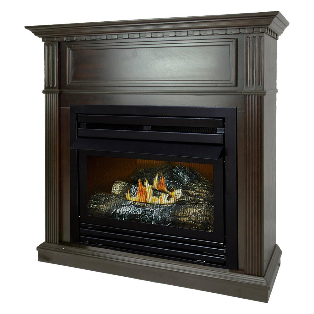 Best ideas about Home Depot Gas Fireplace . Save or Pin Pleasant Hearth 27 500 BTU 42 in Convertible Ventless Now.