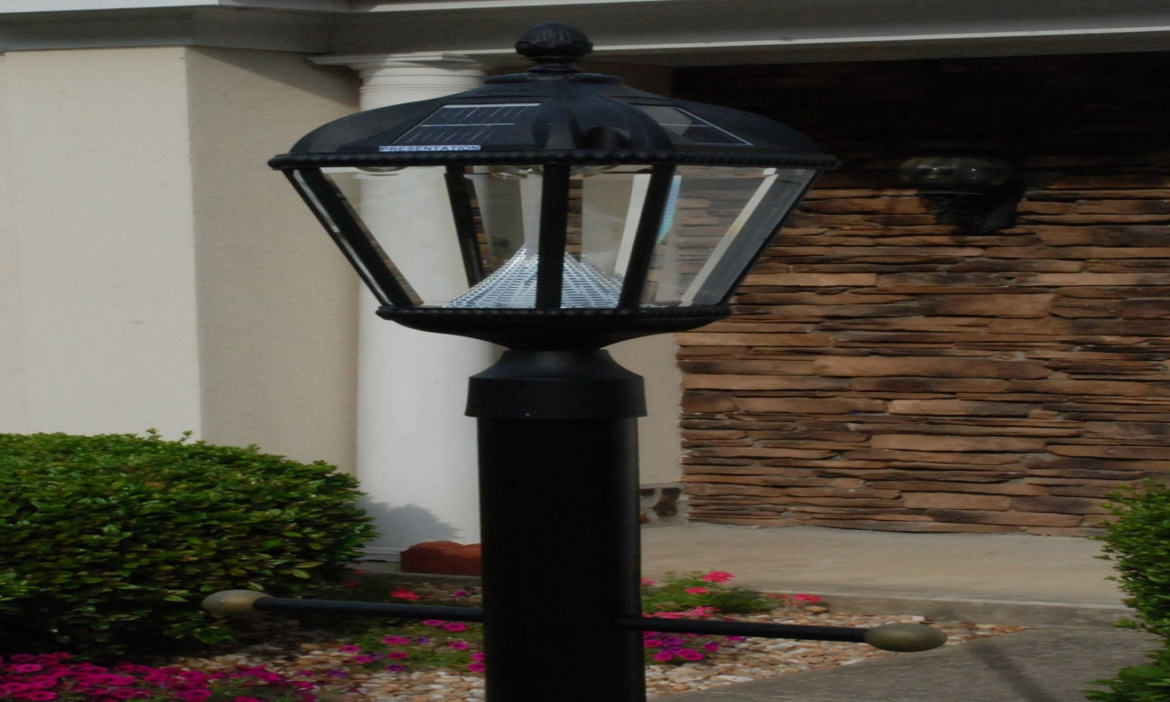 Best ideas about Home Depot Landscape Lighting . Save or Pin Solar powered outdoor lighting fixtures solar lamp posts Now.