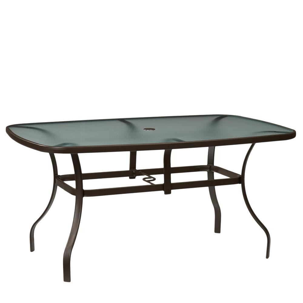Best ideas about Home Depot Patio Table . Save or Pin Hampton Bay Mix and Match Rectangle Metal Outdoor Dining Now.