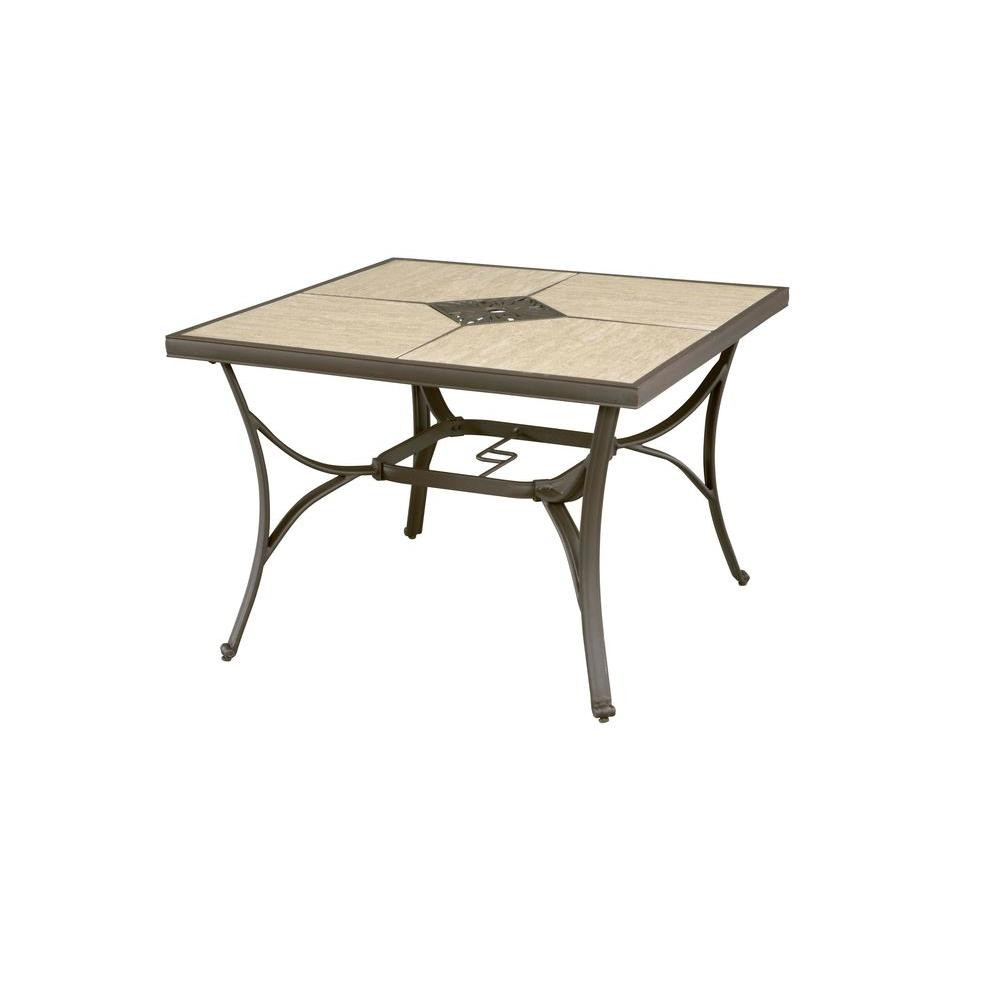 Best ideas about Home Depot Patio Table . Save or Pin Hampton Bay Pembrey 40 in Square Patio Dining Table Now.