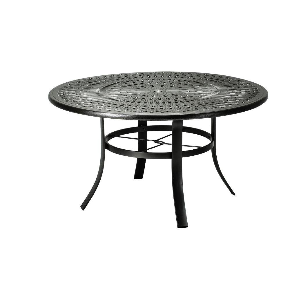 Best ideas about Home Depot Patio Table . Save or Pin Tradewinds 42 in Black Cast Aluminum mercial Patio Now.