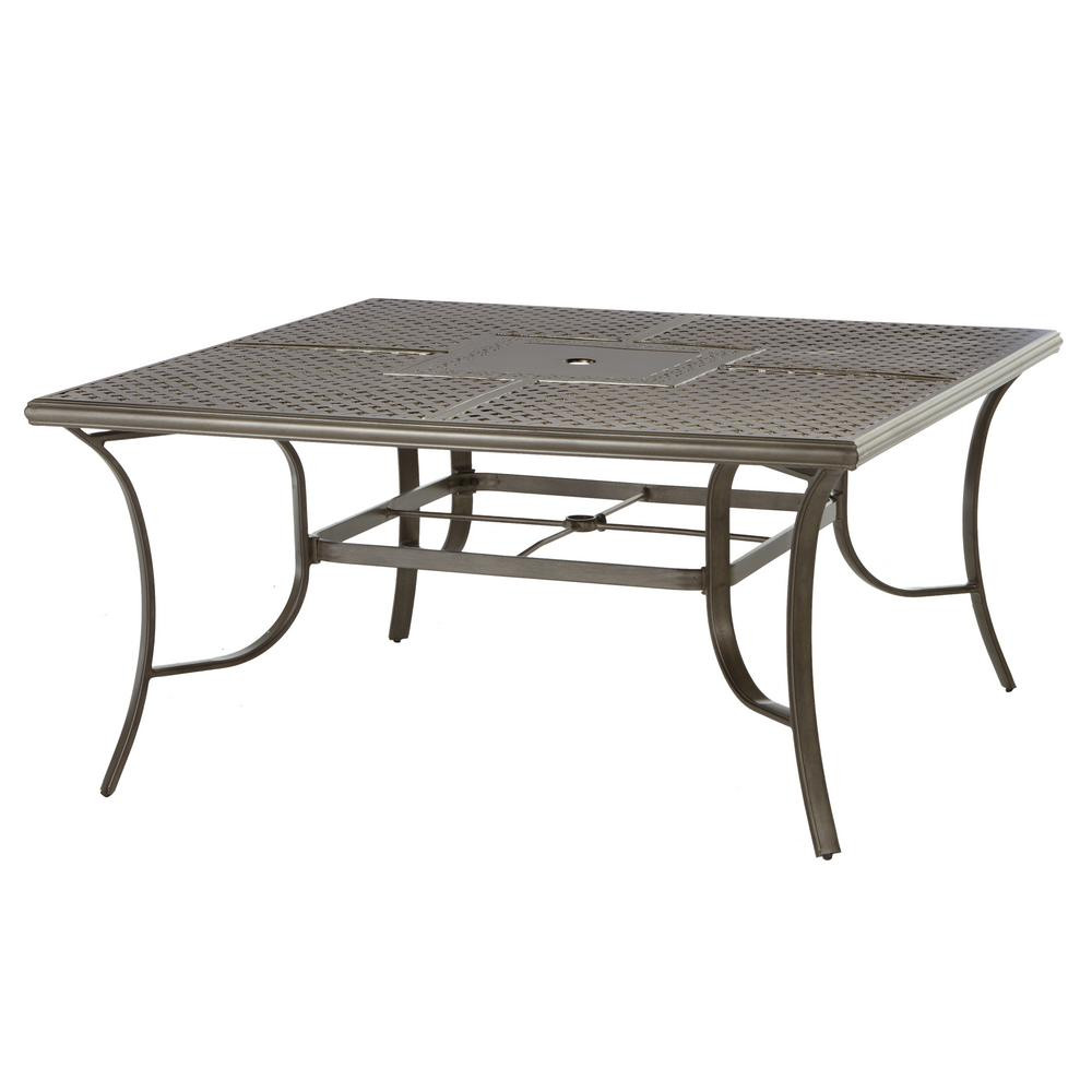 Best ideas about Home Depot Patio Table . Save or Pin Hampton Bay Mix and Match Square Metal Outdoor Dining Now.
