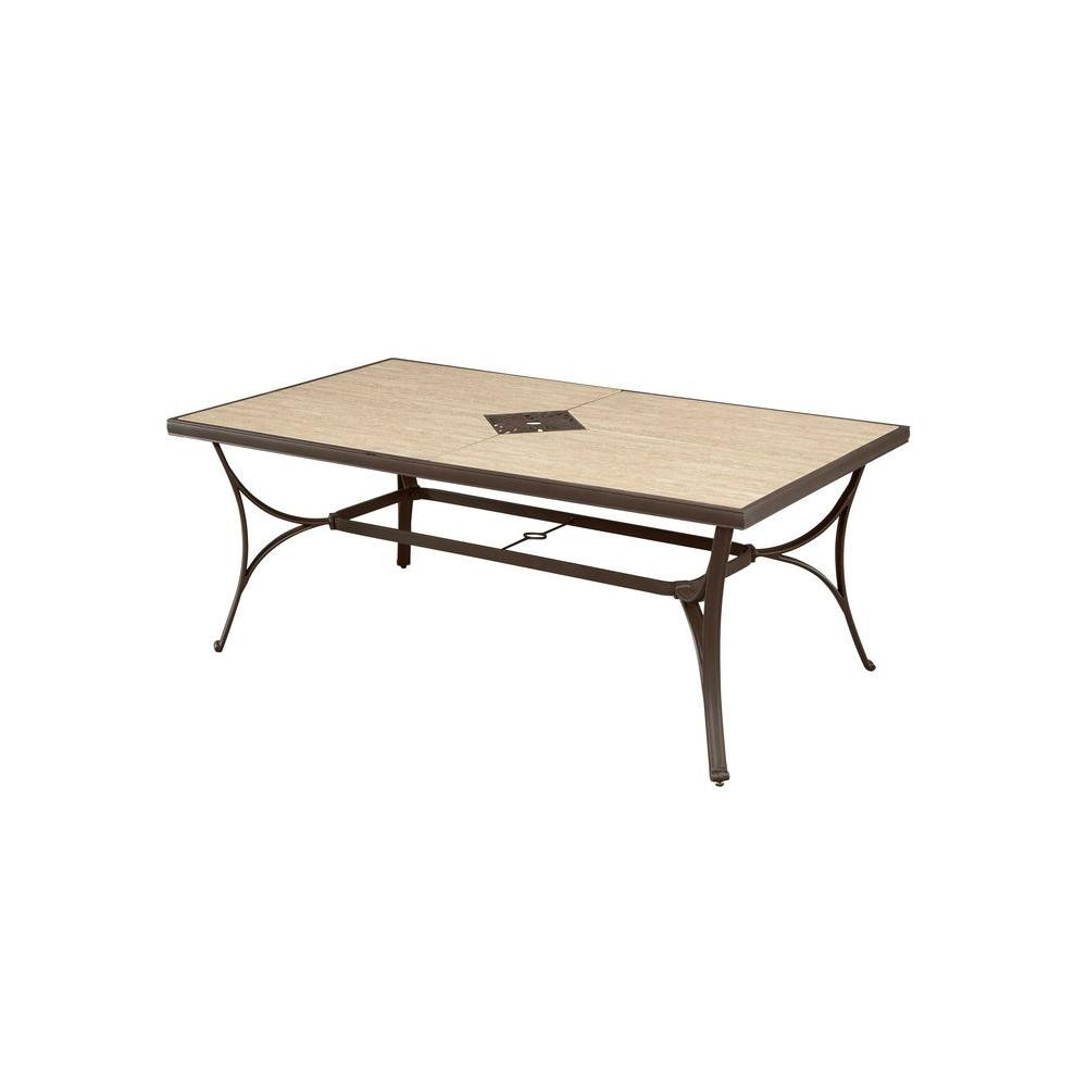 Best ideas about Home Depot Patio Table . Save or Pin Hampton Bay Pembrey Rectangular Patio Dining Table HD Now.