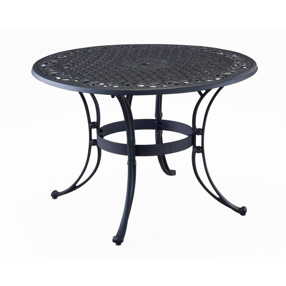 Best ideas about Home Depot Patio Table . Save or Pin Home Styles Biscayne 42 in Black Round Patio Dining Table Now.
