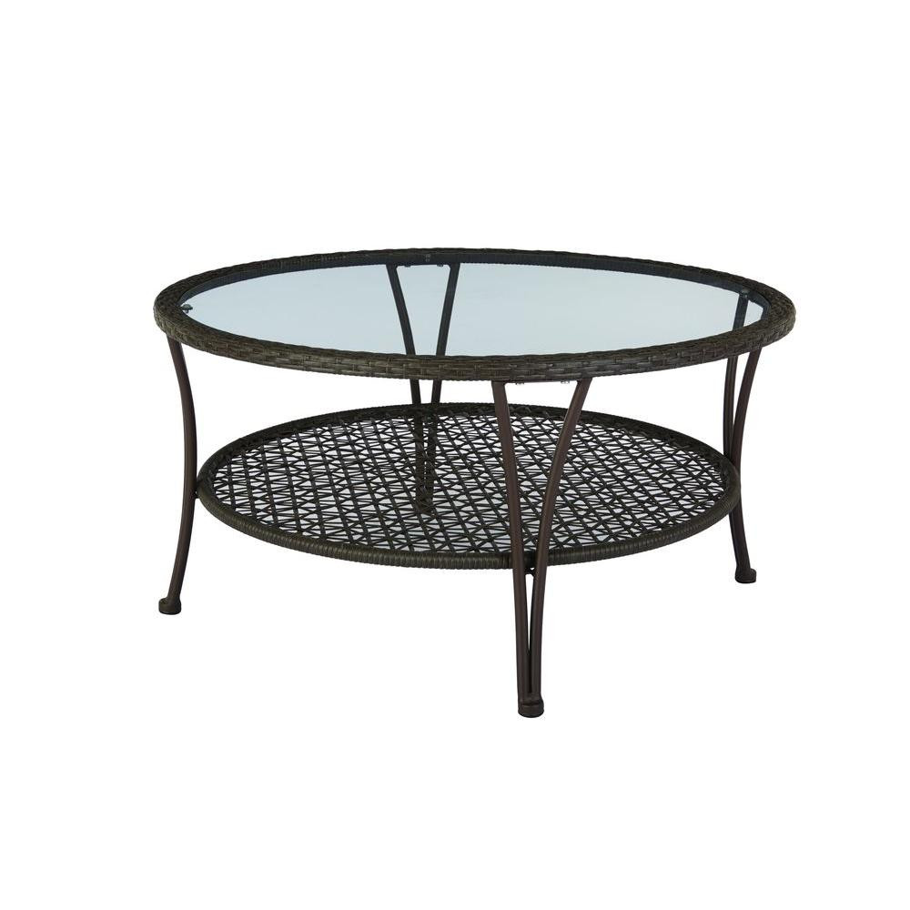 Best ideas about Home Depot Patio Table . Save or Pin Hampton Bay Arthur All Weather Wicker Patio Coffee Table Now.