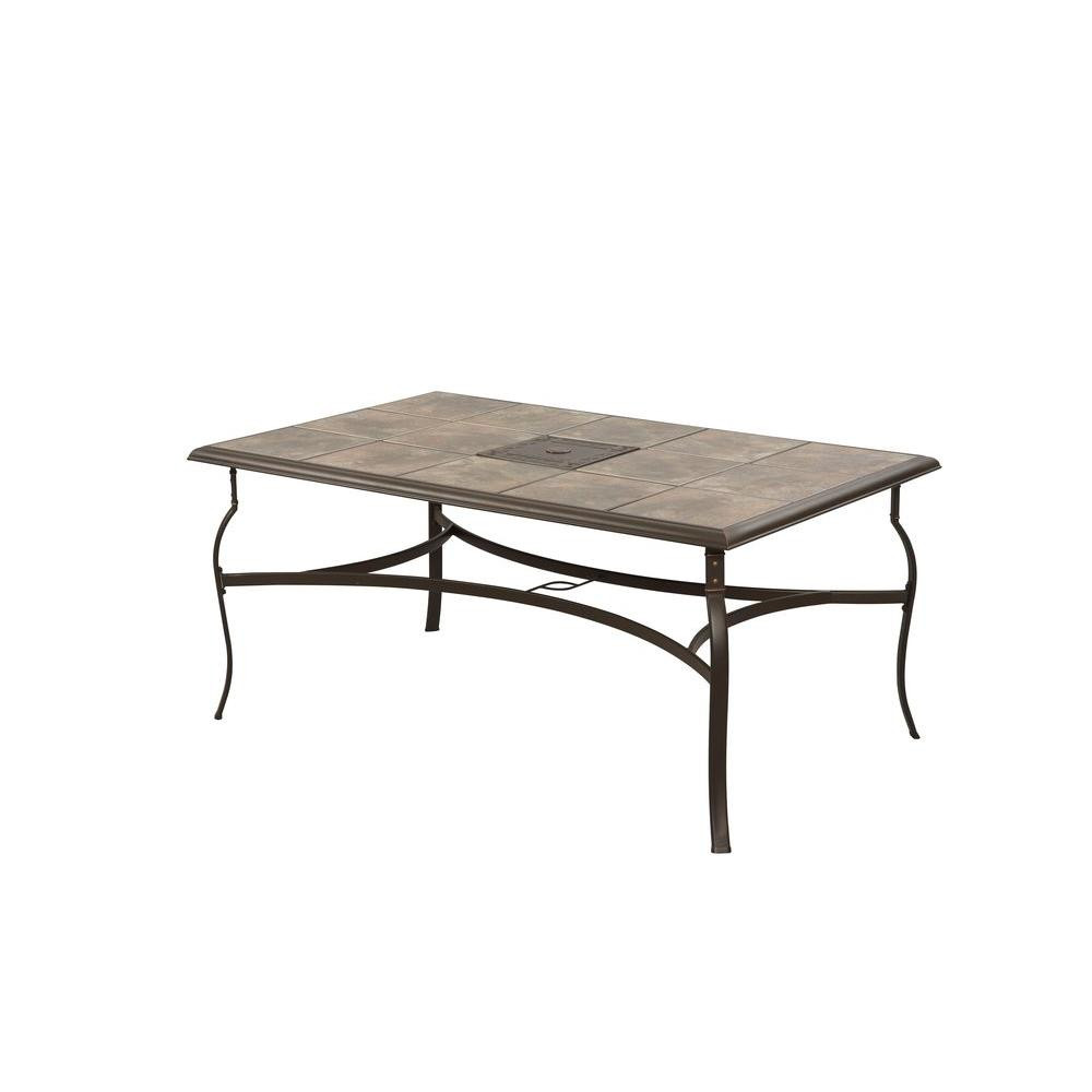 Best ideas about Home Depot Patio Table . Save or Pin Hampton Bay Belleville Rectangular Patio Dining Table Now.
