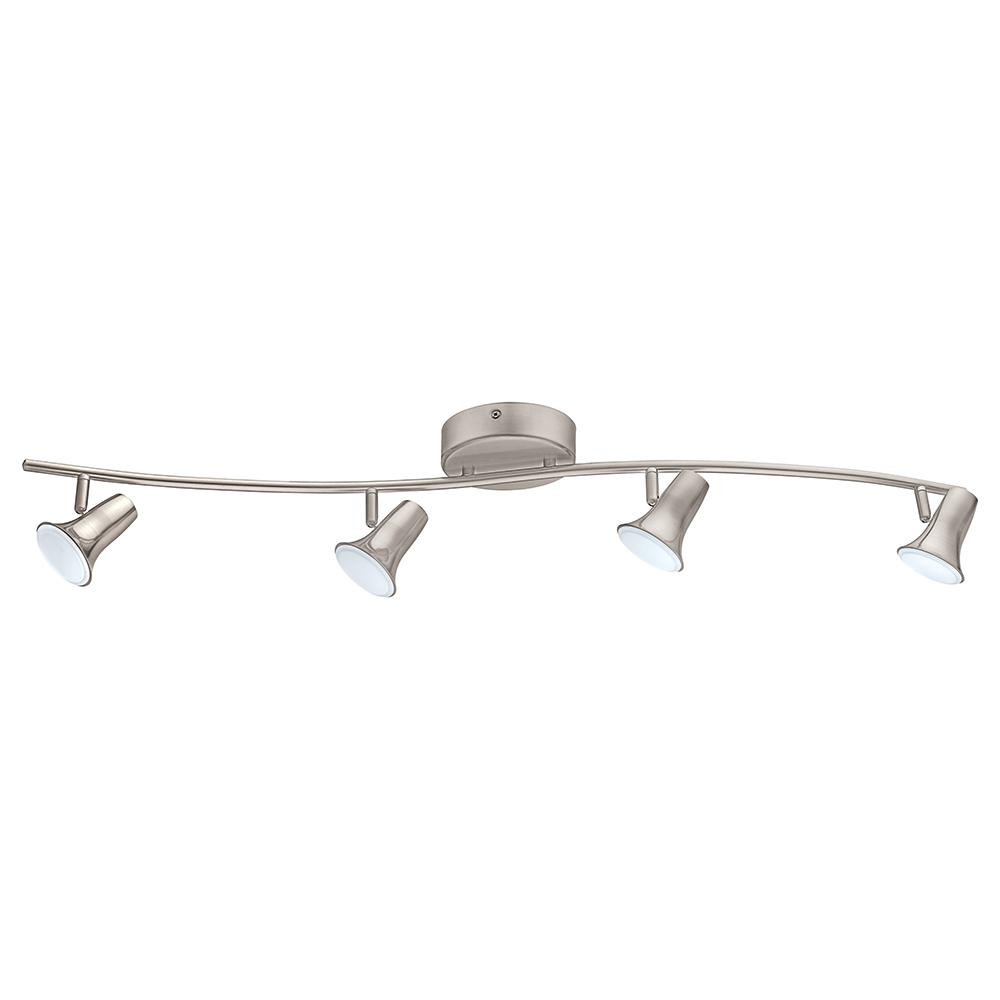 Best ideas about Home Depot Track Lighting . Save or Pin Eglo Jumilla LED 4 Light Matte Nickel Track Lighting Kit Now.