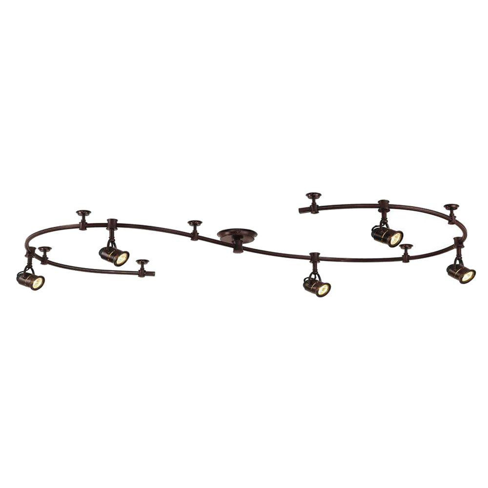 Best ideas about Home Depot Track Lighting . Save or Pin Hampton Bay 10 ft 5 Light Antique Bronze Retro Pinhole Now.