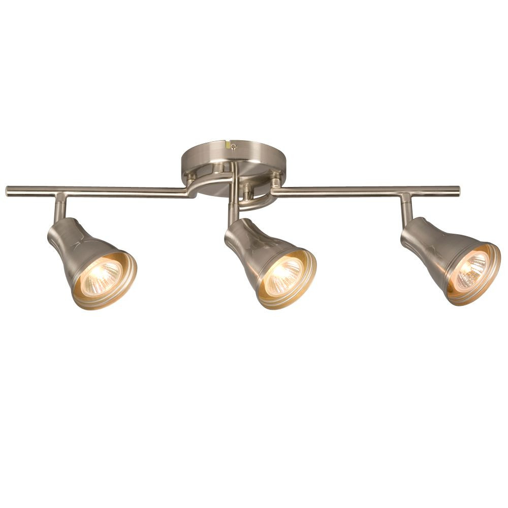 Best ideas about Home Depot Track Lighting . Save or Pin Hampton Bay 3 Light Ceiling Track Light in Brushed Nickel Now.