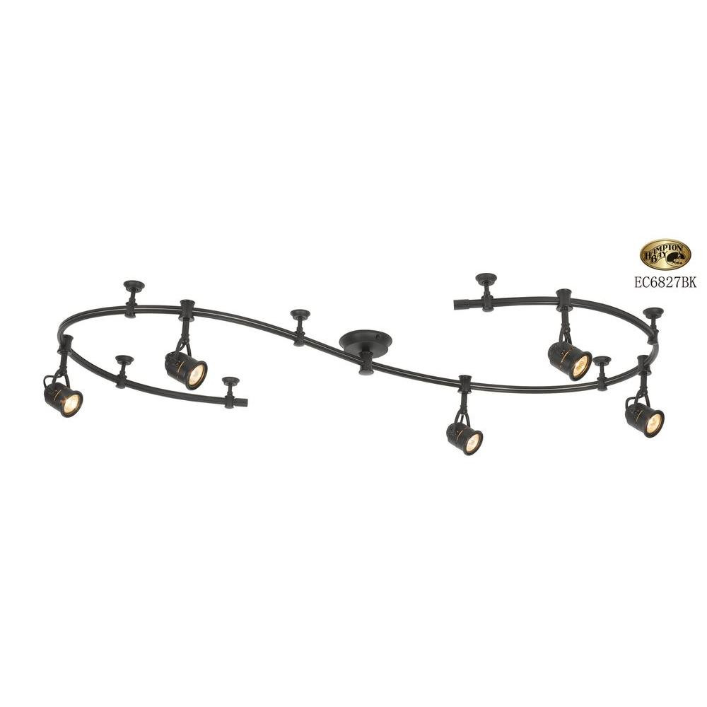 Best ideas about Home Depot Track Lighting . Save or Pin Hampton Bay 10 ft 5 Light Black Flexible Track Lighting Now.