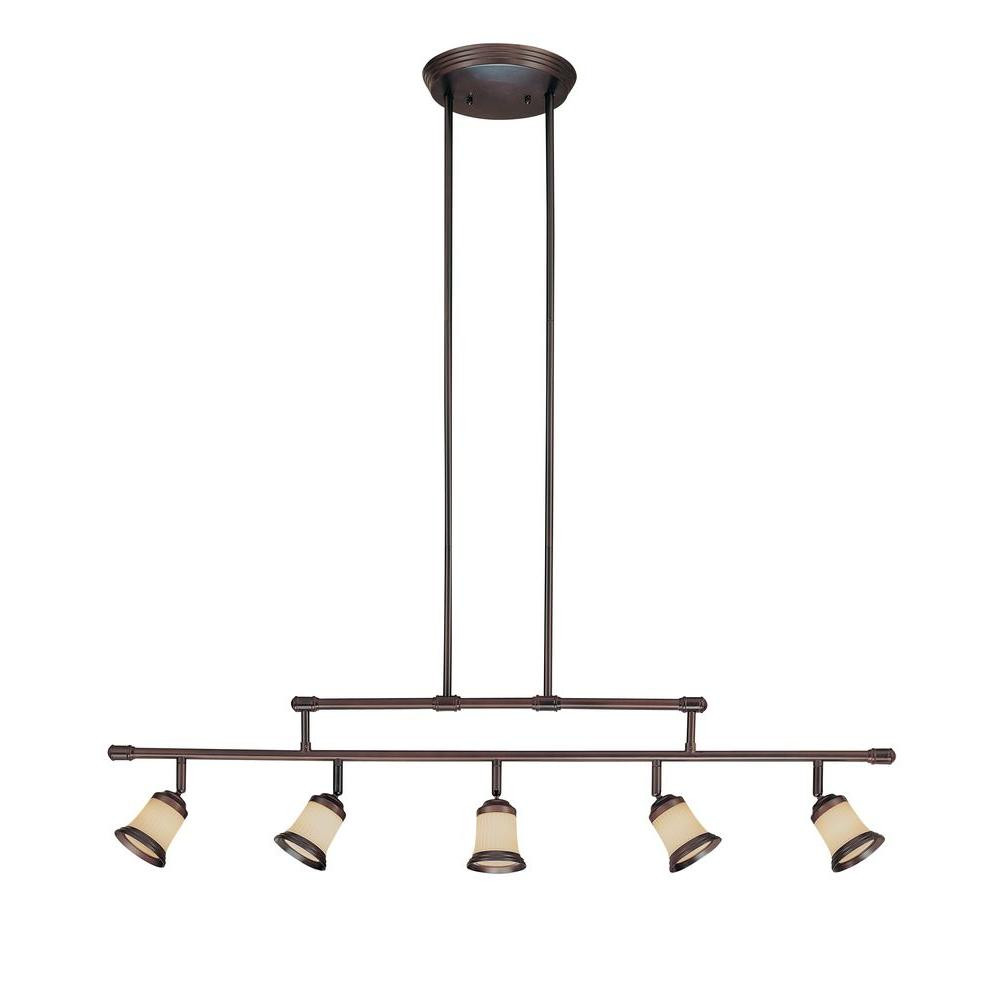 Best ideas about Home Depot Track Lighting . Save or Pin Hampton Bay 5 Light Antique Bronze Adjustable Height Track Now.