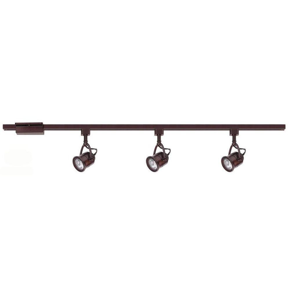 Best ideas about Home Depot Track Lighting . Save or Pin Hampton Bay 3 Light Antique Bronze Linear Track Lighting Now.