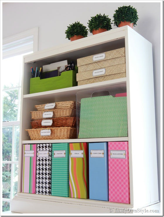 Best ideas about Home Office Organization Ideas . Save or Pin Organizing Ideas Colorful Magazine Files Free Labels Now.