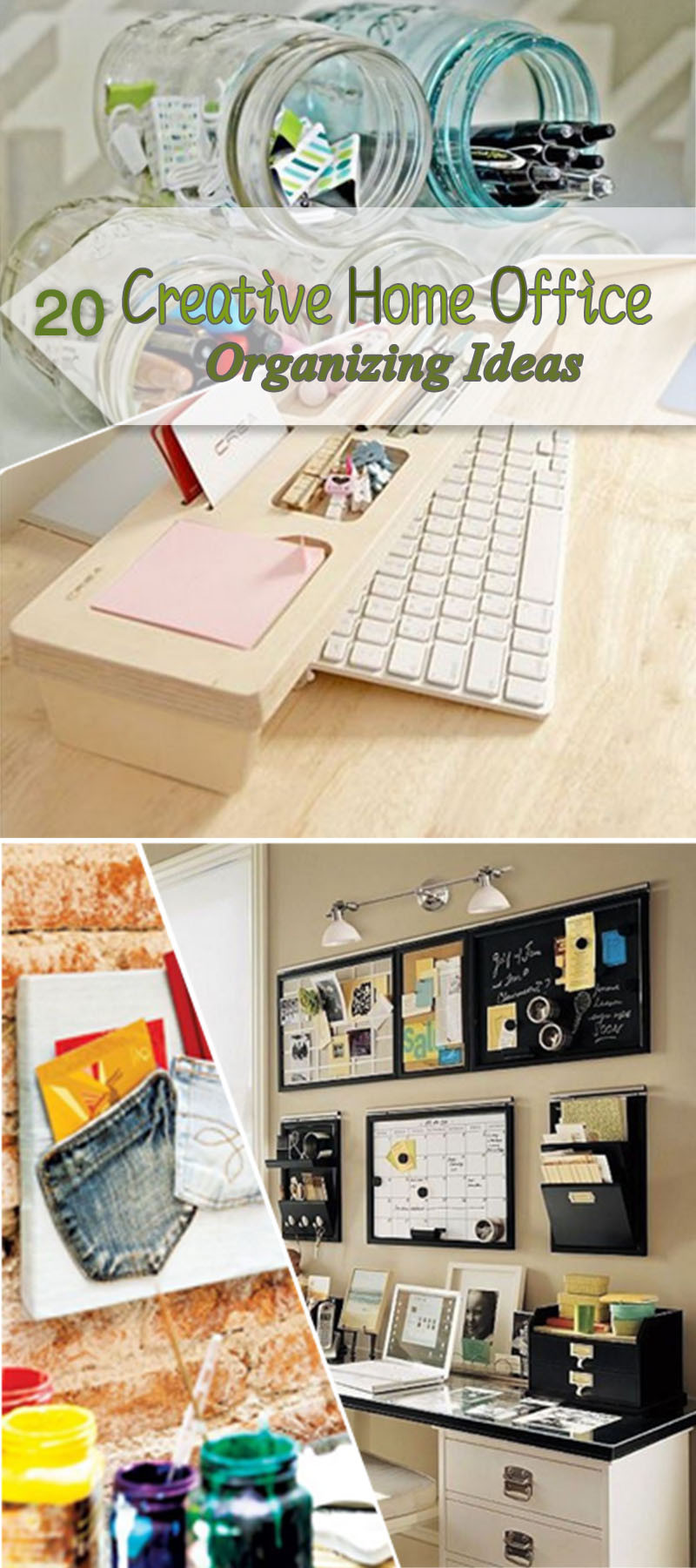 Best ideas about Home Office Organization Ideas . Save or Pin 20 Creative Home fice Organizing Ideas Hative Now.