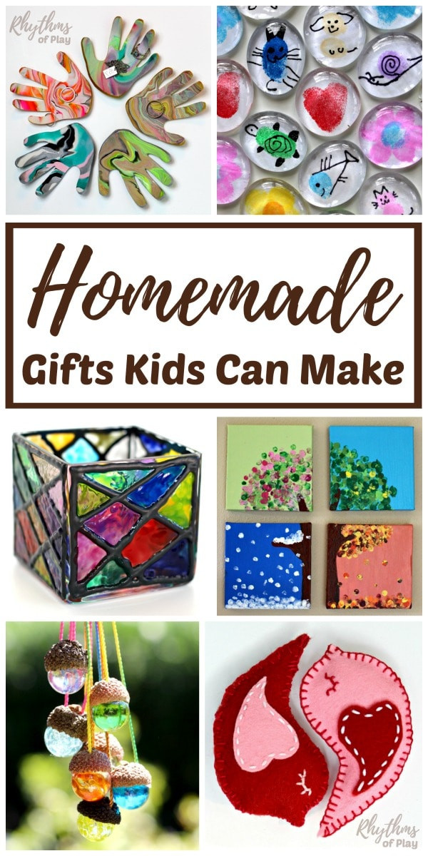 Best ideas about Homemade Christmas Gifts For Kids To Make . Save or Pin Homemade Gifts Kids Can Make for Parents and Grandparents Now.