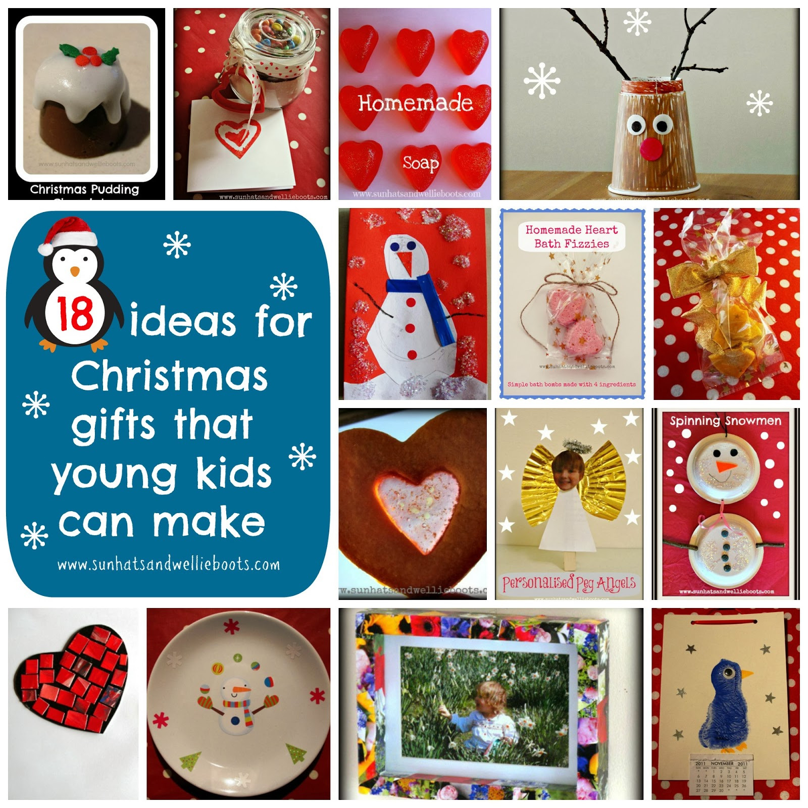 Best ideas about Homemade Christmas Gifts For Kids To Make . Save or Pin Sun Hats & Wellie Boots 18 Homemade Christmas Gifts That Now.
