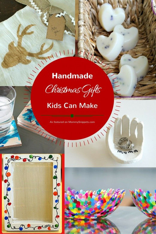 Best ideas about Homemade Christmas Gifts For Kids To Make . Save or Pin Handmade Christmas Gifts Kids Can Make Mommy Snippets Now.