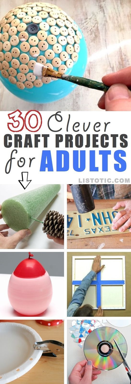 Best ideas about Homemade Craft Ideas For Adults . Save or Pin best EVERYTHING DIY images on Pinterest Now.