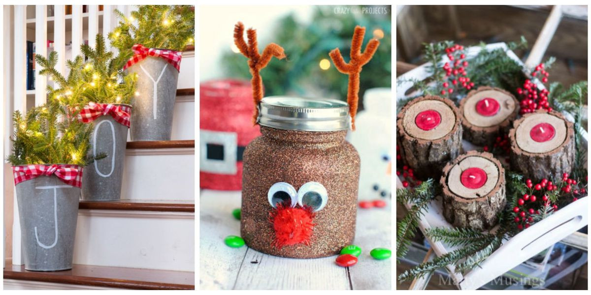 Best ideas about Homemade Craft Ideas For Adults . Save or Pin 55 Easy Christmas Crafts Simple DIY Holiday Craft Ideas Now.