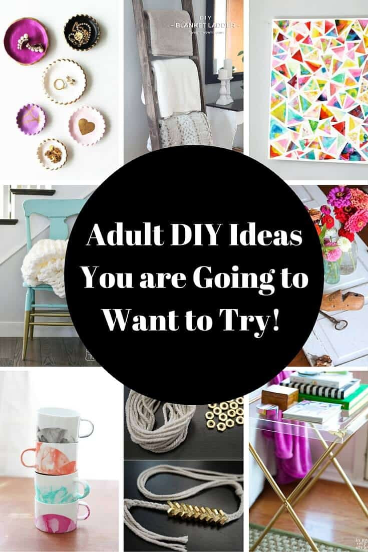 Best ideas about Homemade Craft Ideas For Adults . Save or Pin Adult DIY Projects I Want to Try Princess Pinky Girl Now.