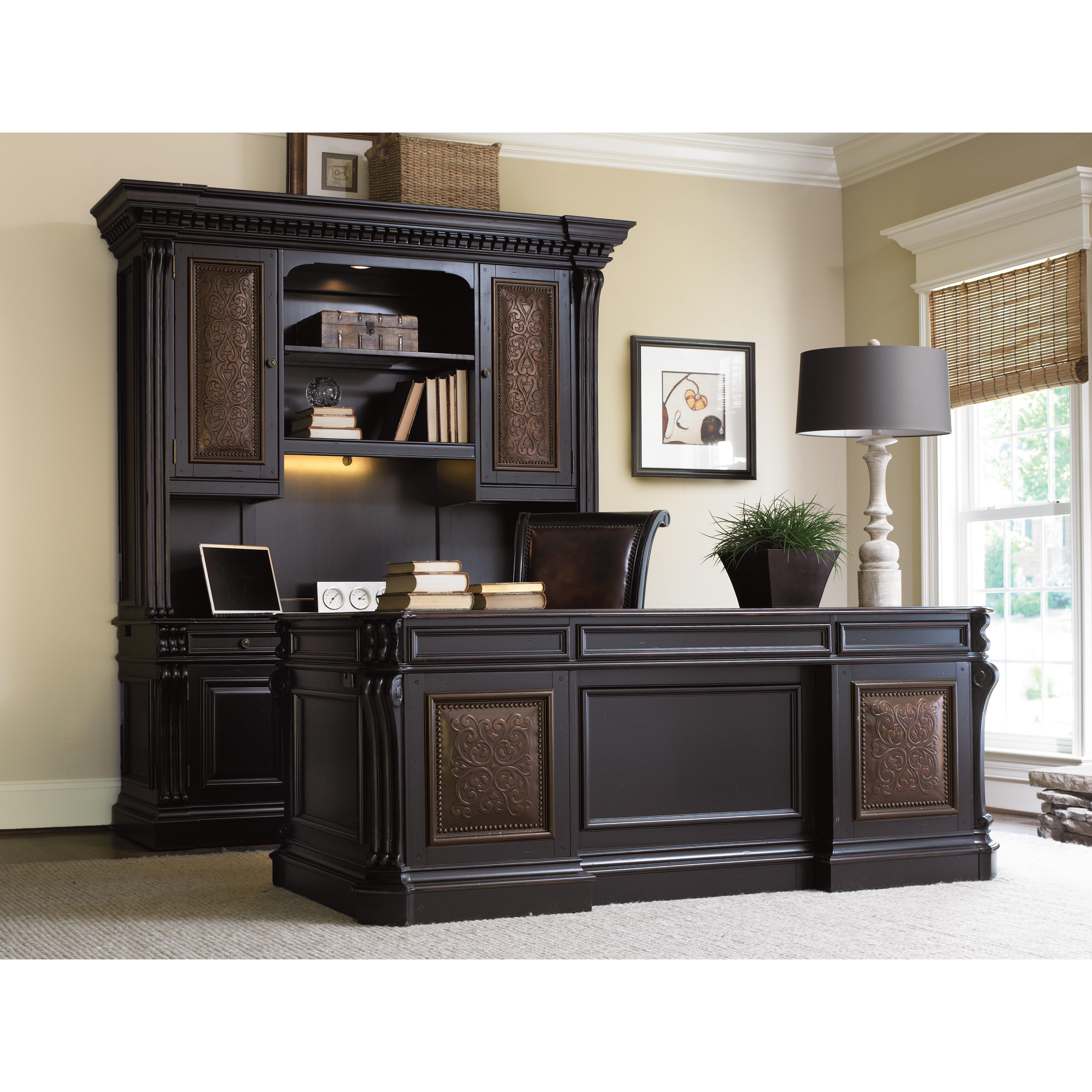 Best ideas about Hooker Office Furniture . Save or Pin Hooker Furniture Telluride Executive Desk with Keyboard Now.