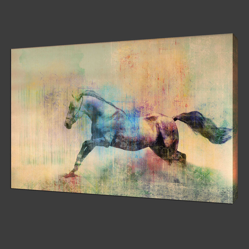Best ideas about Horse Wall Art . Save or Pin NOT Framed 12x19'' Canvas Print Home Decor Running horse Now.