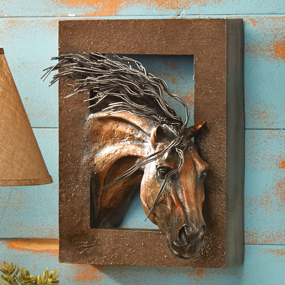 Best ideas about Horse Wall Art . Save or Pin Wild Beauty 3 D Horse Wall Sculpture Now.